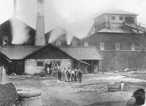 Exteriörbild av Ljusne södra järnverk som anlades 1873-74. Foto: Stig Wallström