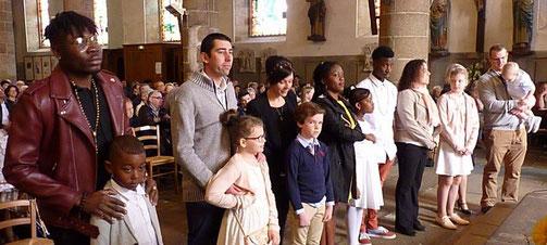 3-La présentation des 6 baptisés