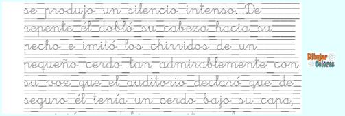 la fábula del bufón en caligrafía