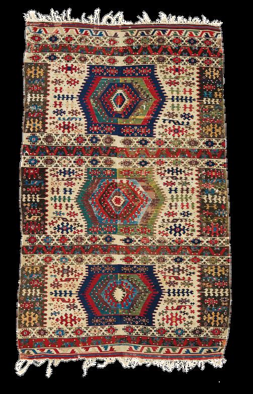 Nomaden Teppich, Zürich. Vintage kilim, Kelim aus Konya, Turkey