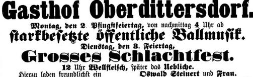 Zschopauer Wochenblatt aus dem Jahr 1909