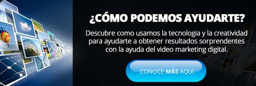 pantalla de video marketing digital CTA