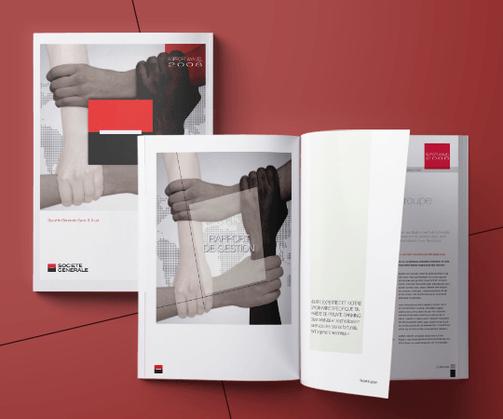 LSZ Communication - Graphiste - Directrice artistique freelance Nantes - #lepetitoiseaudelacom - SOCIETE GENERALE - LUXEMBOURG - BANQUE - Rapport d'activité - plaquette - dépliant