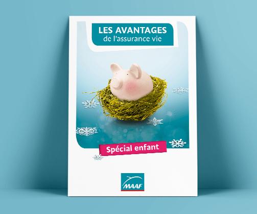 LSZ Communication - Graphiste - Directrice artistique freelance Nantes - #lepetitoiseaudelacom - MAAF - ASSURANCE - affiche - mailing - dépliant - plaquette - chemise - pochette - emailing - Agence caribou
