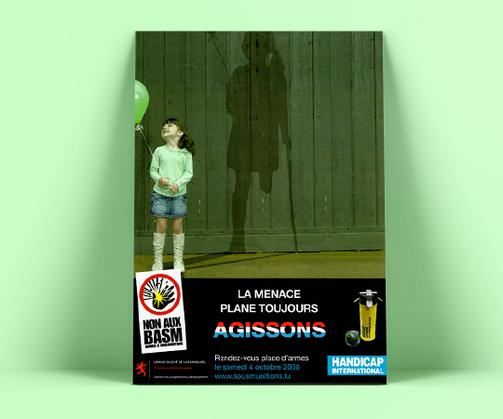 LSZ Communication - Graphiste - Directrice artistique freelance Nantes - #lepetitoiseaudelacom - HANDICAP INTERNATIONAL - LUXEMBOURG - ONG - Affiche