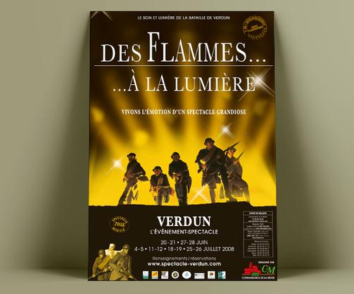 LSZ Communication - Graphiste - Directrice artistique freelance Nantes - #lepetitoiseaudelacom - CONNAISSANCE DE LA MEUSE - LES FLAMMES A LA LUMIERE - CULTUREL - SPECTACLE - Affiche