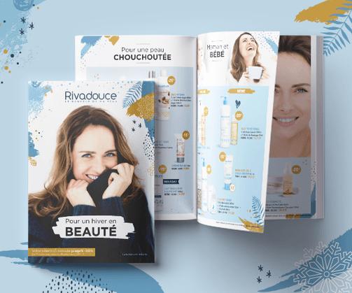 LSZ Communication - Graphiste - Directrice artistique freelance Nantes - #lepetitoiseaudelacom - LABORATOIRE RIVADIS - COSMETIQUE - plaquette - dépliant - affiche - flyer - magazine - emailing