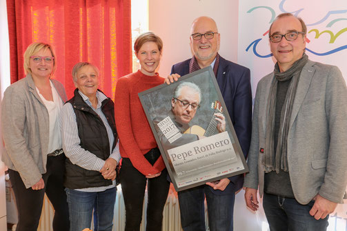 v.li. Stefanie Grothe, Viktoria Dutzmann, Laura Hamdorf, Johann Hansen, Frank Siebert.