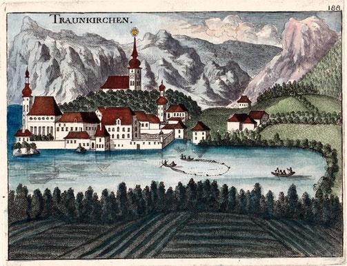 Handkolorierter Stich von Georg Matthäus Vischer, 1674