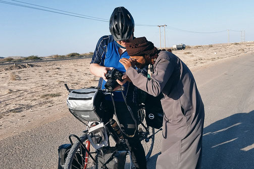 Bike ride across Oman, traveling Arabic countries