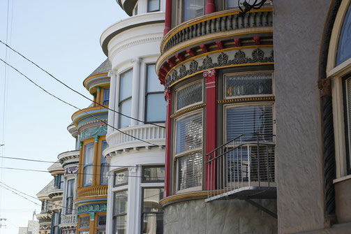 Colorful houses around Haight-Ashbury