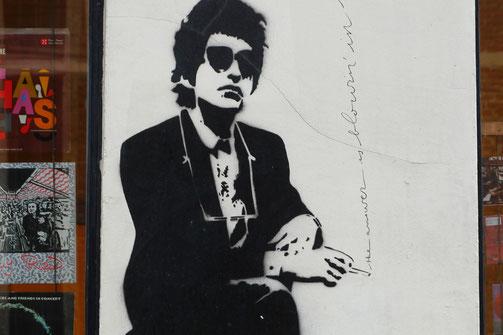 Street Art of Brussels, Street Art Europe, Bob Dylan graffiti