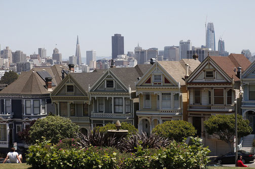 "Die ""Painted Ladies"" in San Francisco"