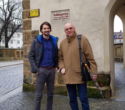 Unser Vorsitzender Manuel Werthner (links) und unser Stadtrat Dr. Eberhard Meier (rechts)