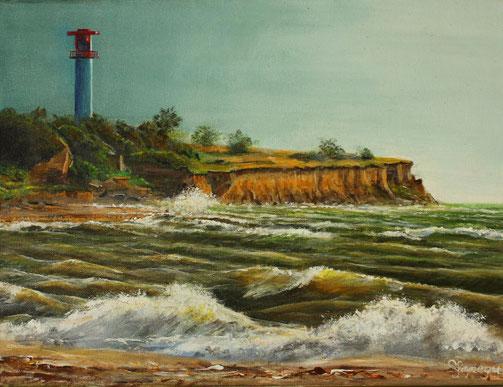 Heiligenhafen 30 x 40 cm Acryl auf Leinwand