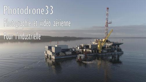 Photographie et vidéo institutionnelle - plateforme pétrolière