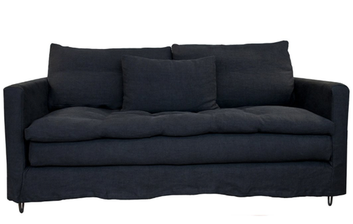 Black Sauvage Linen with Topper