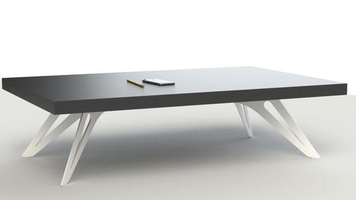 pied de table basse design coloris blanc