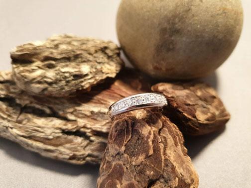 Ring in Weissgold 750 mit Brillanten