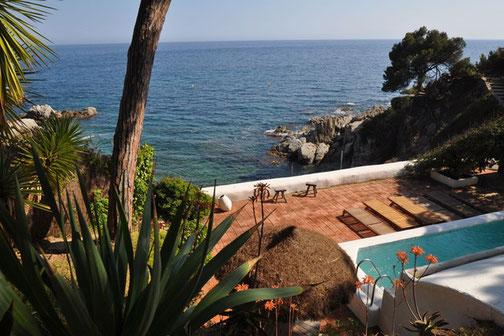 Location vacances maisons, villas les pieds dans l'eau à Lloret de Mar, location vacances Costa Brava