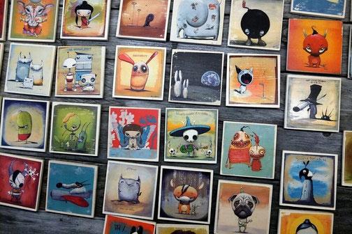 andras bartos  pop art leinwanddruck canvas print berlin holz magnete
