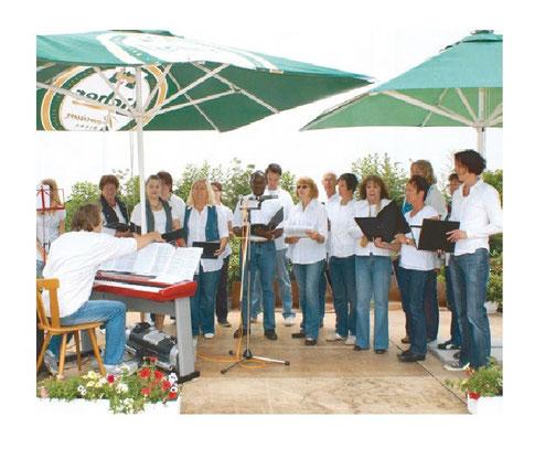 Da Capo bei einem Auftritt beim Rosen- und Rhododendronfest in Wernborn