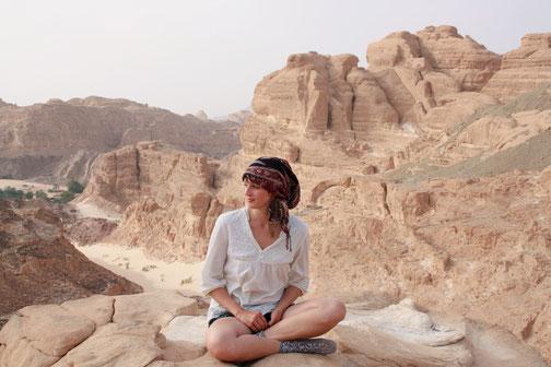 Weiße Wüste in Ägypthen. Canyon