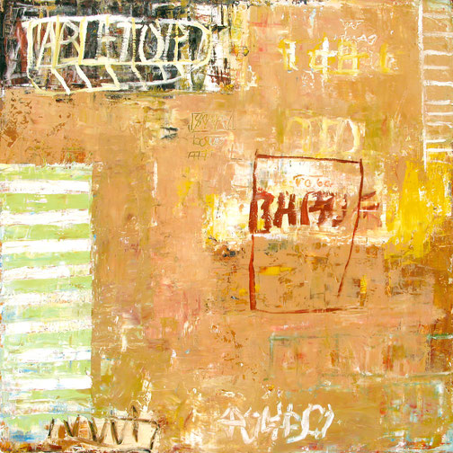 """Bill Fisher, """"Untitled 27,"""" oil and cold wax on panel, 52 x 52 inches, $10,000"""