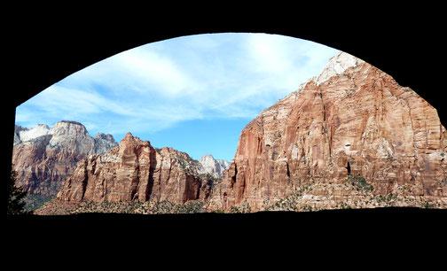 Fenster im Tunnel