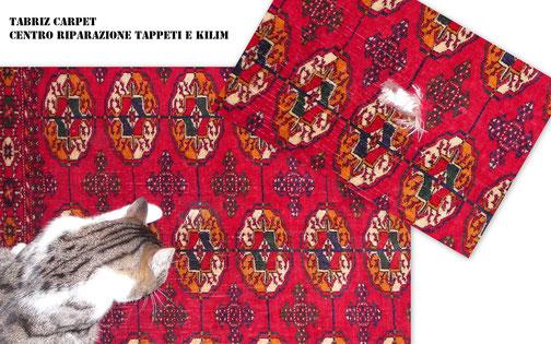 Conegliano-Tabriz carpet Udine via molin nuovo parelle viale Tricesimo, restauro tappeto buchara russo