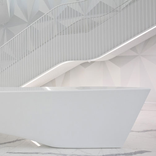 Where to order engineered stone countertop with integrated sink in Lithuania
