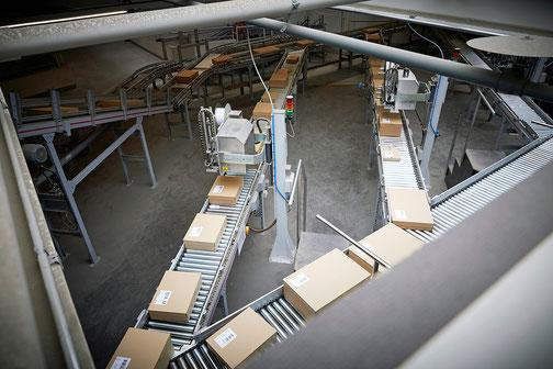 Competec bei der Bewältigung der grossen Paketmengen