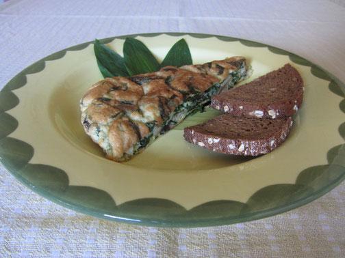 Bärlauch-Champignon-Omelette