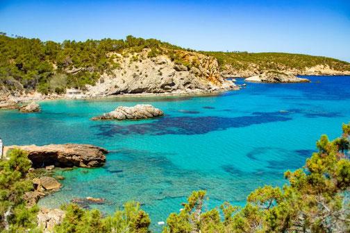 Ibiza, Balearen, Buchten, Strände, Die Traumreiser, Cala Xarraca
