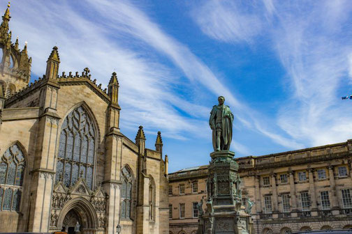 Royal Mile, Edinburgh, Kathedrale, Kirche, Die Traumreiser