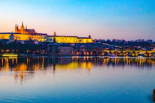Prag, Altstadt, Die Traumreiser, Moldau, Hradschin
