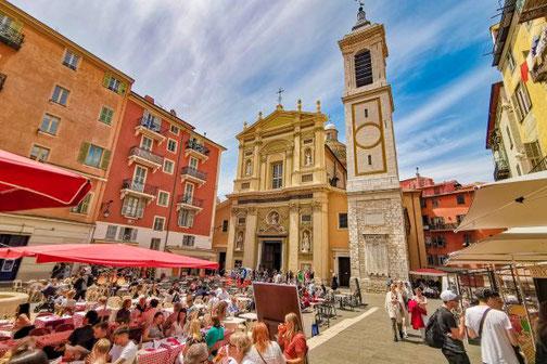 Côte D'Azur, Frankreich, Französische Riviera, Die Traumreiser, Nizza, Nice, Kathedrale, Platz
