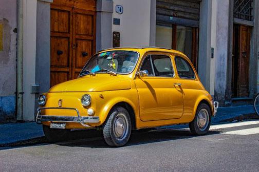 Auto, Fiat, historisch, Oldtimer, Die Traumreiser