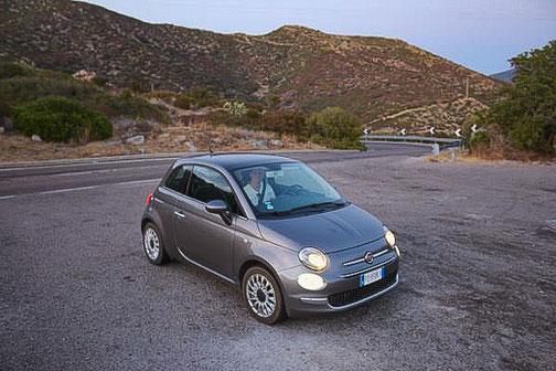 Fiat 500, Sardinien, Mietwagen, Die Traumreiser