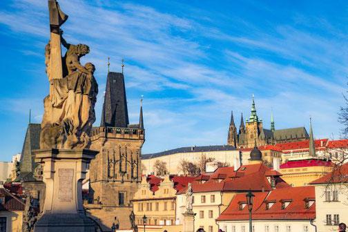 Prag, Tschechien, Die Traumreiser, Karlsbrücke, Hradschin