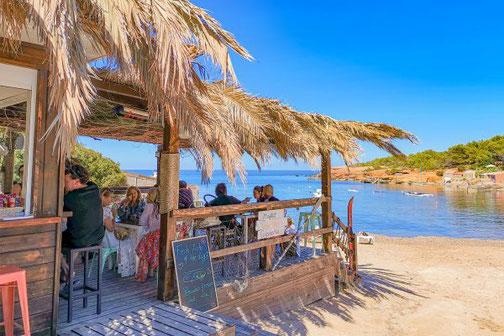 Ibiza, Balearen, Buchten, Strände, Die Traumreiser, Bar, Cala de Pou des Lleos