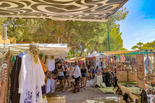 Ibiza, Eivissa, Balearen, Hippie Markt, Punta Arabi, Die Traumreiser