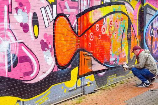 Belfast, Nordirland, Die Traumreiser, Graffiti