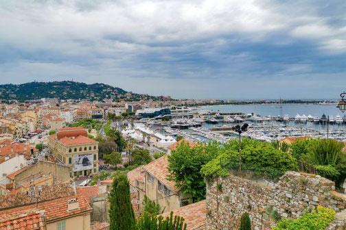 Côte D'Azur, Frankreich, Französische Riviera, Die Traumreiser,  Cannes, Hafen, Aussicht, Aussichtspunkt