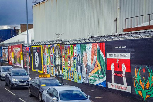 Belfast, Nordirland, Murals, Highlights, Die Traumreiser, Highlights