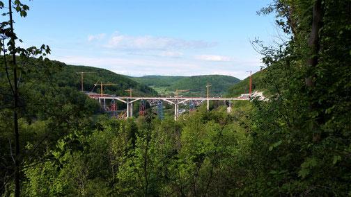 Die Filstalbrücke aus anderer Perspektive