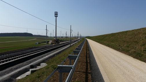 Der Neubau der Bahn macht Fortschritte...