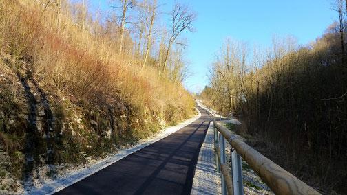 Der ehemalige Singletrail vom Rohrachtal nach Amstetten wurde im letzten Jahr noch geteert (leider)...
