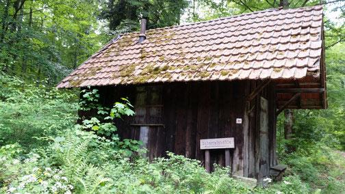 An dieser Hütte war ich bestimmt schon 3 Jahre nicht mehr...