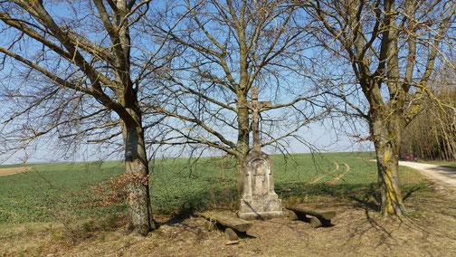 Ein altes Wegekreuz bei Dornstadt...